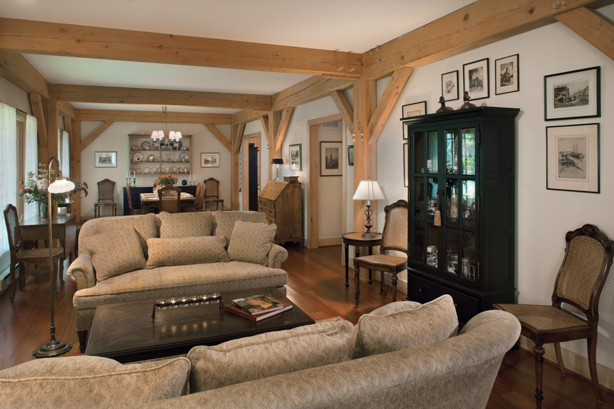 Living Room Vs Great Room Timber Frame Great Room Photos By Riverbend
