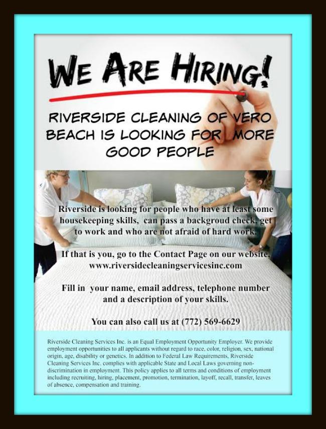 Jobs In Vero Beach - Riverside Cleaning
