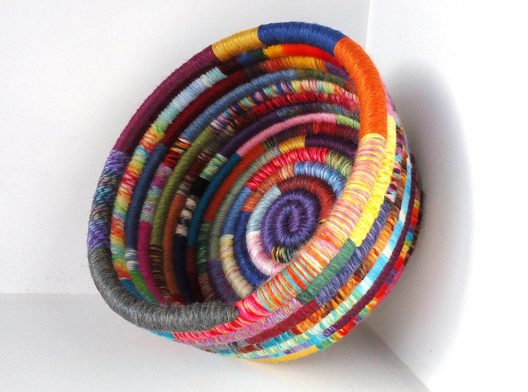 Yarn Coil Baskets Riverside Art