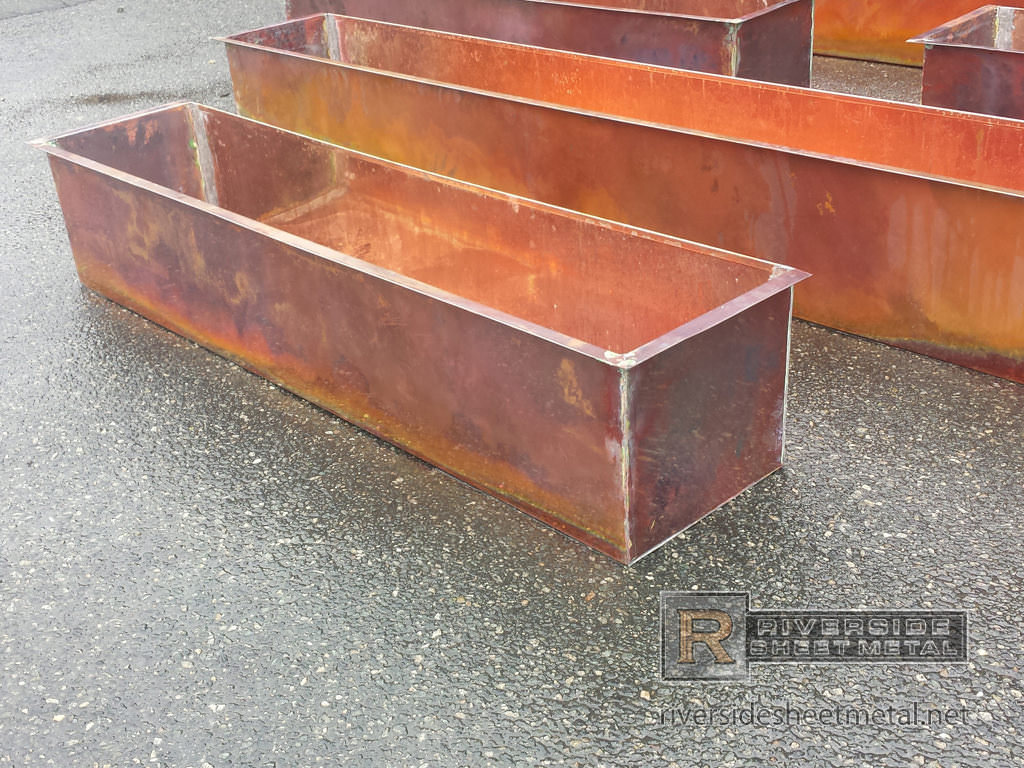 Metal Planter Boxes Copper Flower Boxes Burnished
