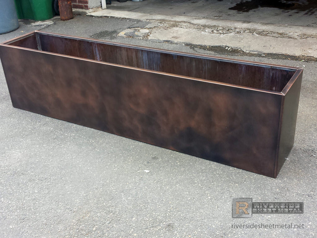 Copper Mailbox Patina Flower Box With Custom Dark Patina Finish Applied Ma