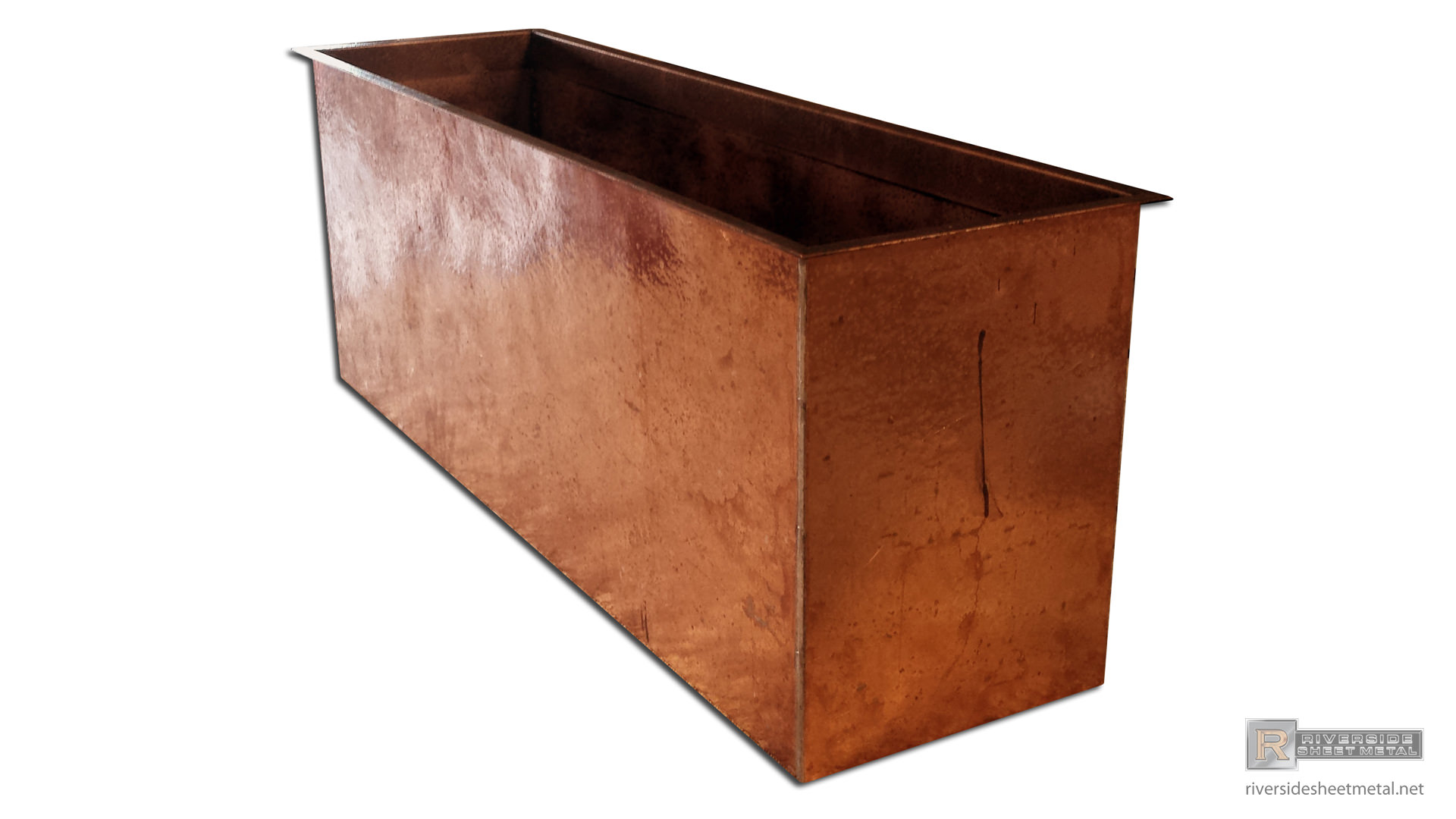 Metal Planter Boxes Hand Hammered Copper Planter Flower Box Riverside