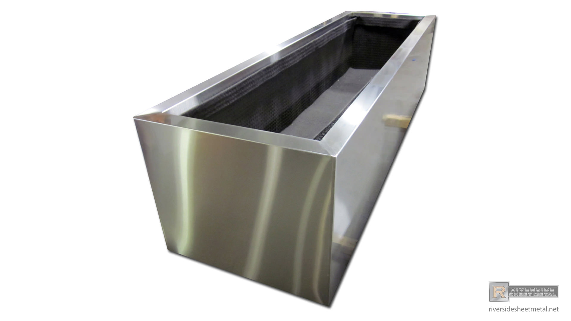 Metal Planter Boxes Rectangular Stainless Steel Planter 4 Custom Made To Order
