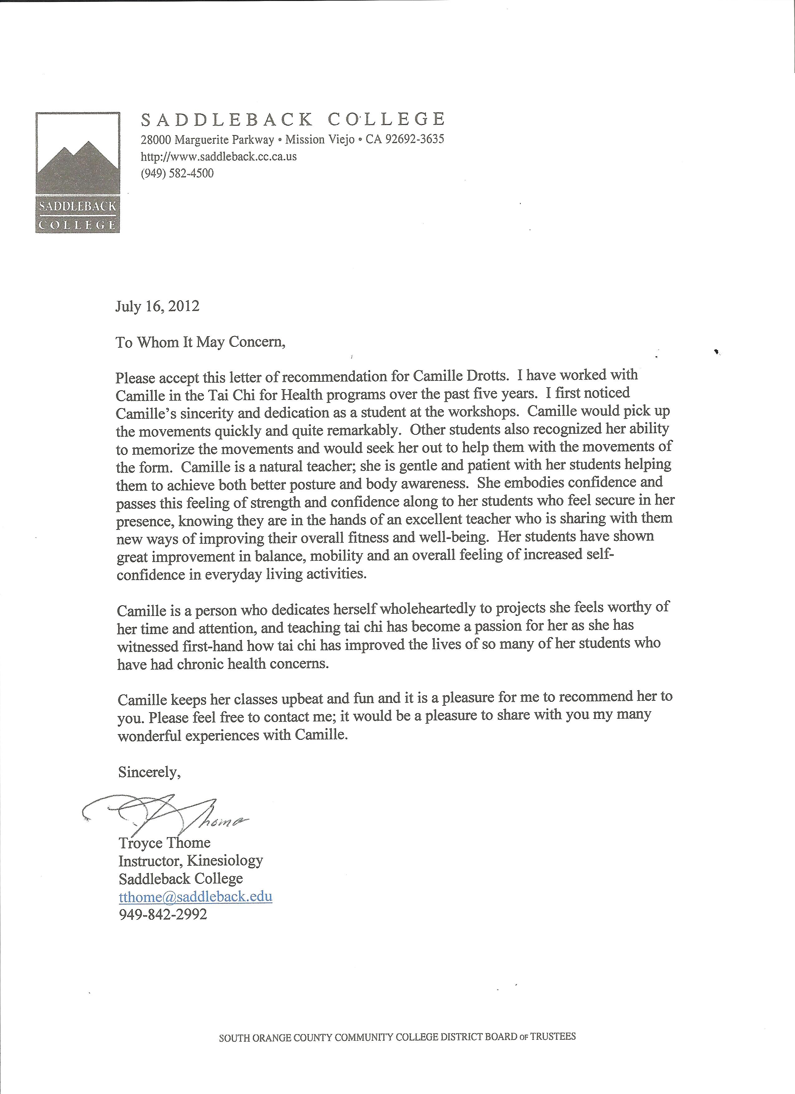 sample letter of recommendation for scholarship from community leader