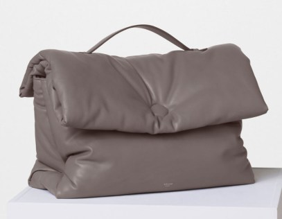 Celine-Cartable-Pillow-Handbag-Grey-3100