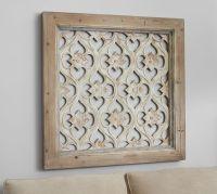 Hempstead Carved Wood Wall Art Panel | Pottery Barn