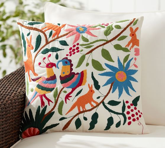 Otomi Embroidered Indoor Outdoor Pillow Multi Pottery Barn