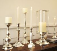 Eclectic Silver-Plated Candlesticks | Pottery Barn
