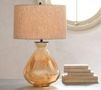 Alana Luster Glass Table Lamp Base - Amber | Pottery Barn