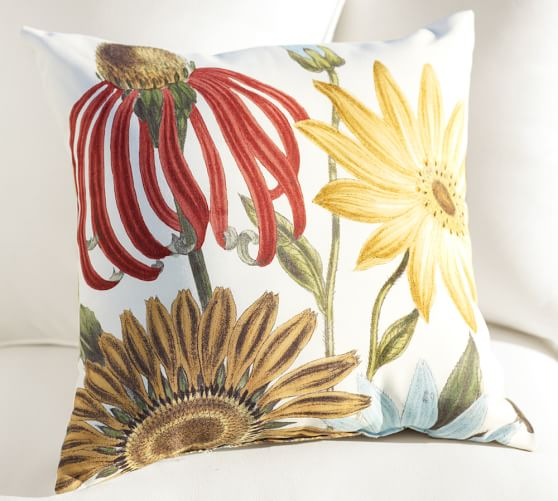 Daisy Botanical Indoor Outdoor Pillows Pottery Barn