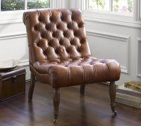 Carolyn Tufted Leather Chair | Pottery Barn
