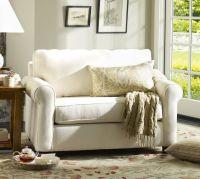 Buchanan Roll Arm Upholstered Twin Sleeper Sofa | Pottery Barn