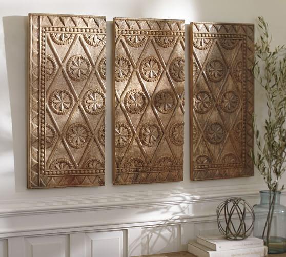 Wooden Triptych Wall Art