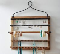 Pine & Iron Wall-Mounted Jewelry Hanger | Pottery Barn