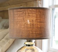 Burlap Flared Drum Lamp Shade | Pottery Barn