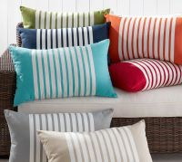 Mariner Stripe Indoor/Outdoor Pillow | Pottery Barn