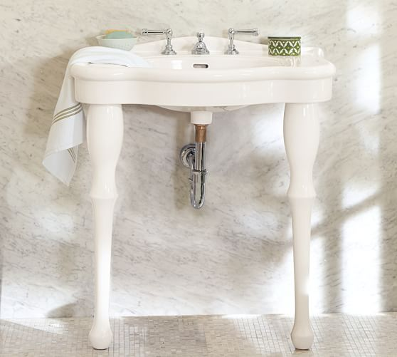 Parisian Pedestal Single Sink Console Pottery Barn