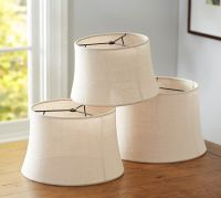 Burlap Sheer Tapered Drum Lamp Shade | Pottery Barn