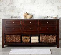 Classic Double Sink Console - Espresso Finish | Pottery Barn