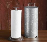 Galvanized Metal Paper Towel Holder | Pottery Barn