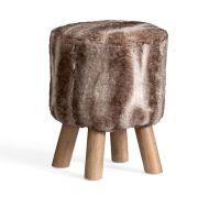 Faux Fur Stool | Pottery Barn