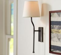 KIRA PLUG-IN SCONCE WITH SHADE | Pottery Barn