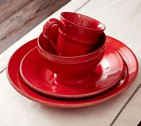 Gabriella Dinnerware - Red   Pottery Barn