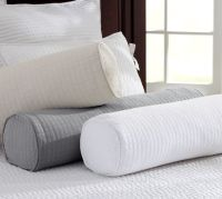 Cameron Organic Matelasse Bolster Pillow Cover | Pottery Barn
