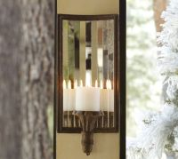 Mirrored Candle Sconce | Pottery Barn