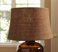 Espresso Burlap Tapered Drum Lamp Shade | Pottery Barn