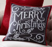 Merry Christmas Pillow Cover | Pottery Barn