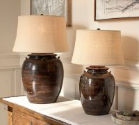 Courtney Ceramic Table Lamp Base - Espresso | Pottery Barn