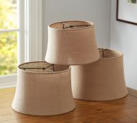 Burlap Sheer Tapered Drum Lamp Shade