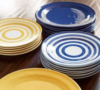 Reese Stripe Salad Plate, Set of 4 | Pottery Barn