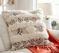Aya Moroccan Wedding Blanket Pillow Cover   Pottery Barn