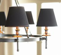 Black Linen Chandelier Shade, Set of 2 | Pottery Barn