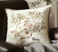 Paris Embroidered Pillow Cover | Pottery Barn