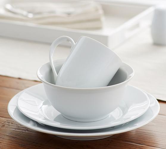 Great White Rim Dinnerware Pottery Barn