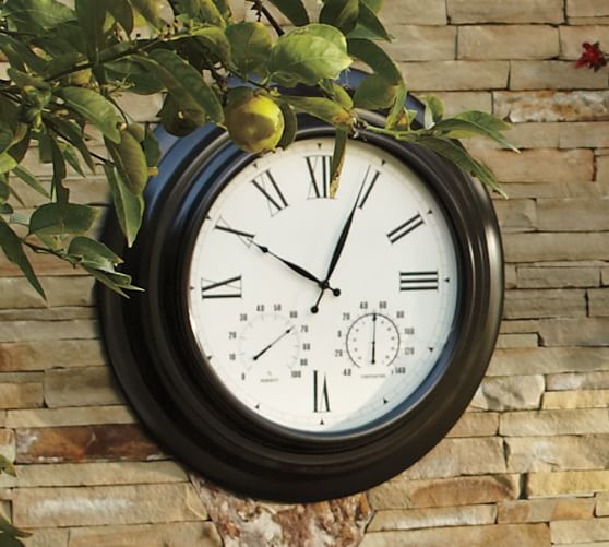Oversized Bronze Outdoor Clock