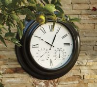 Oversized Bronze Outdoor Clock | Pottery Barn