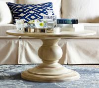 Dawson Round Pedestal Coffee Table | Pottery Barn