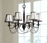 Antique Mercury Glass Chandelier Shade, Set of 3 | Pottery ...