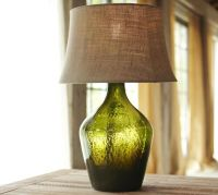 Clift Glass Table Lamp Base - Green   Pottery Barn
