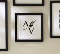 Framed Embroidered Monogram | Pottery Barn