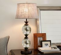 Stacked Mercury Glass Table Lamp Base   Pottery Barn