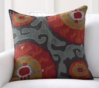 Houston Cropped Suzani Pillow Cover | Pottery Barn