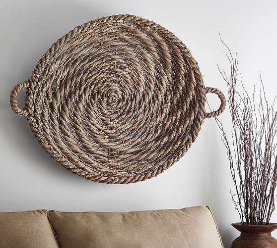 Gray Wash Basket Wall Art