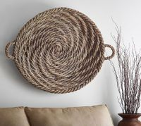 Gray Wash Basket Wall Art