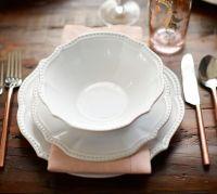 Leila 16-Piece Dinnerware Set - White | Pottery Barn