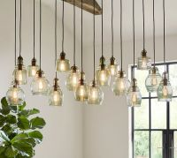 Paxton Glass 16-Light Pendant | Pottery Barn